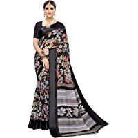 Anni Designer Women's Linen Cotton Printed Saree With Blouse Piece