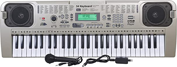 Beston® 54-Keys Piano with USB MP3 Play Function & LCD Display