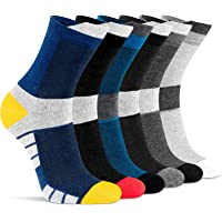 Mens Socks 6 Pairs, Breathable Cushioned Comfortable Sock for Running Sports Athletic Work Walking Hiking Casual Outdoor…
