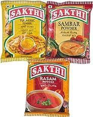 Sambar Powder 100gm + Rasam Powder 100gm + Turmeric Powder 100gm