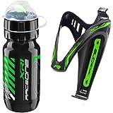 Raceone.it – KIT Race Duo X3Mt (2 st.): Flaskbur X3 + cykel vattenflaska XR1 – Flaskhållare för racingcykling/MTB/grus. Färg: