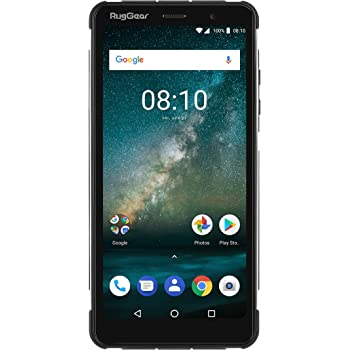074179dc7 RugGear RG850 Slim Profile Rugged Outdoor Android 8.1 Smartphone with 6  Inch Edge-to-