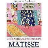 WallBuddy Matisse affisch affisch Matisse 1963 museum affisch Matisse konstutställning (20 x 30)