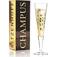 Ritzenhoff Champus Flûte à champagne en cristal 205 ml Avec serviette en tissu