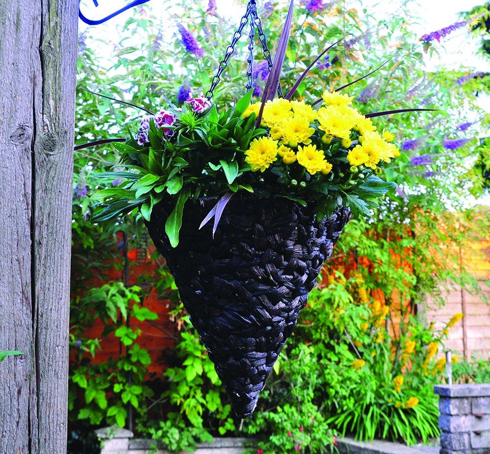 12 Inch Cone Hanging Garden Decor Basket Garden Patio Outdoor Flower ...