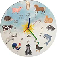 Wall Clock for Children with Animals - silent move - perfect for Nursery and Kids Room