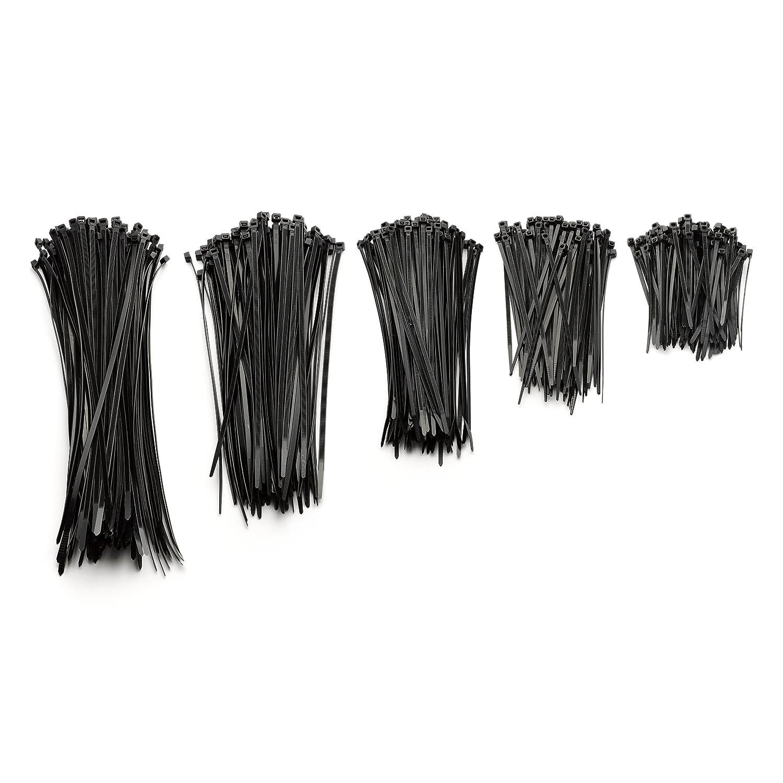 Kimedo® Profi Kabelbinder Set schwarz 500 Stück | 100 | 150 | 200 ...