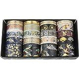 Diealles Shine Gouden folie reizen Washi Tape, 20 rollen decoratieve tape ambachtelijke benodigdheden voor doe-het-zelf, Bull