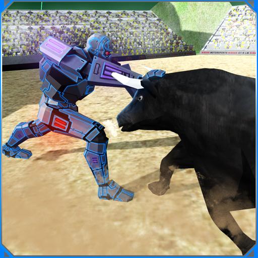 Roboter Vs Stier-Rodeo Matador Spiel