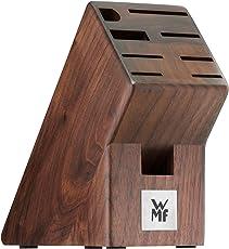 WMF Messerblock ohne Messer aus Walnussholz unbestück leer, für 6 Messer, 1 Fleischgabel, 1 Wetzstahl und 1 Schere