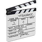 Relaxdays, Blanc Clap de cinéma Hollywood Film clapet scène Inscription déco HxlxP: 26 x 30 x 30 cm