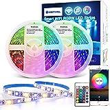 GIDERWEL 10m RGBW Smart WiFi LED Streifen Kit,APP/Voice/Musik Control RGB+Warmweiß Lichtstreifen Alexa RGBW LED Strips,Kompat