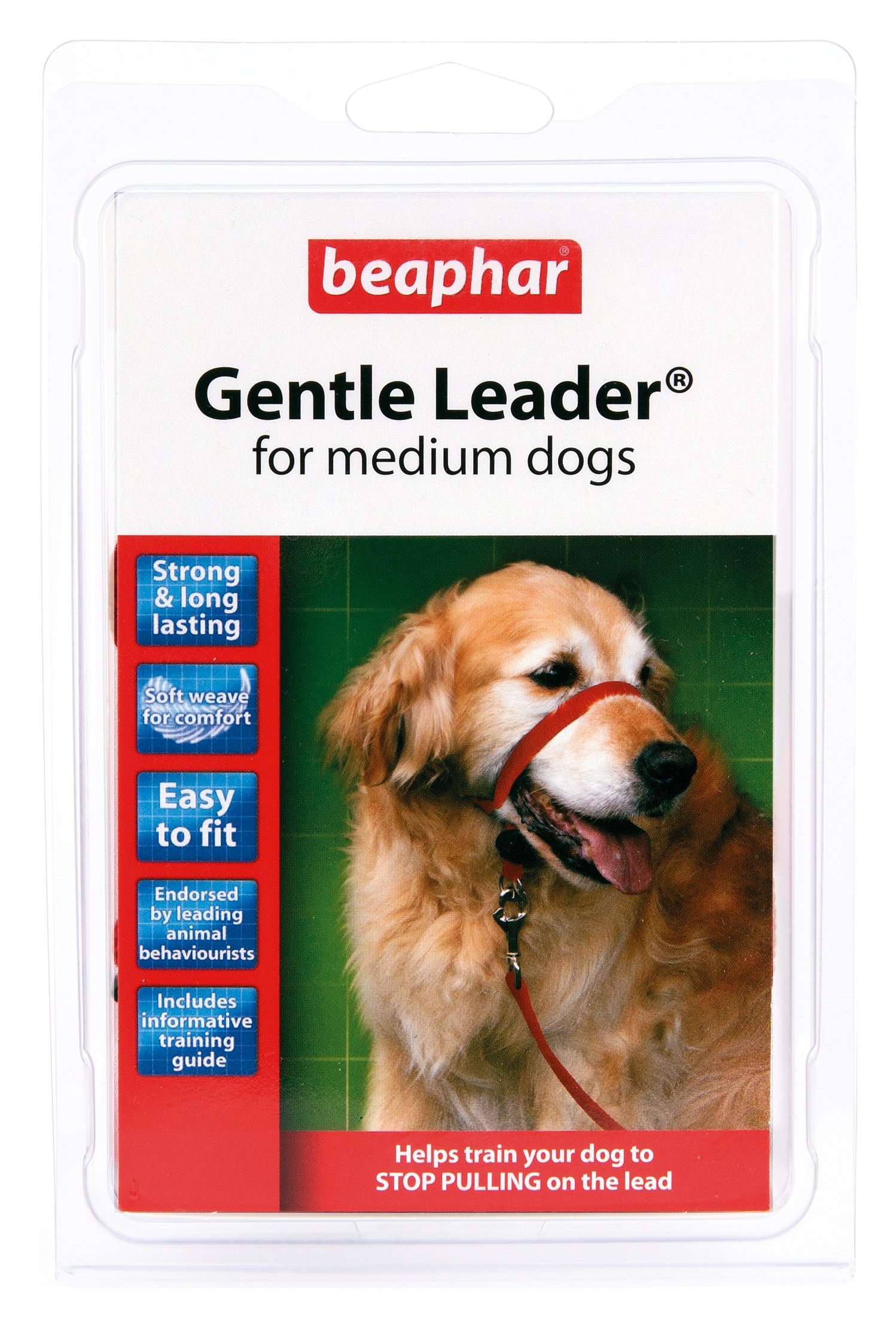 BEAPHAR GENTLE LEADER FOR MEDIUM DOGS, M SIZE, RED COLOUR LEAD