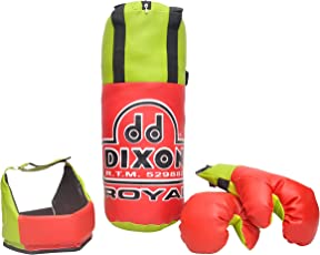 Toyshine Dixon Kids Royal Polyester Boxing Kit with Gloves and Head Guard, Small (18 Inches) - 3-6 Years, Red