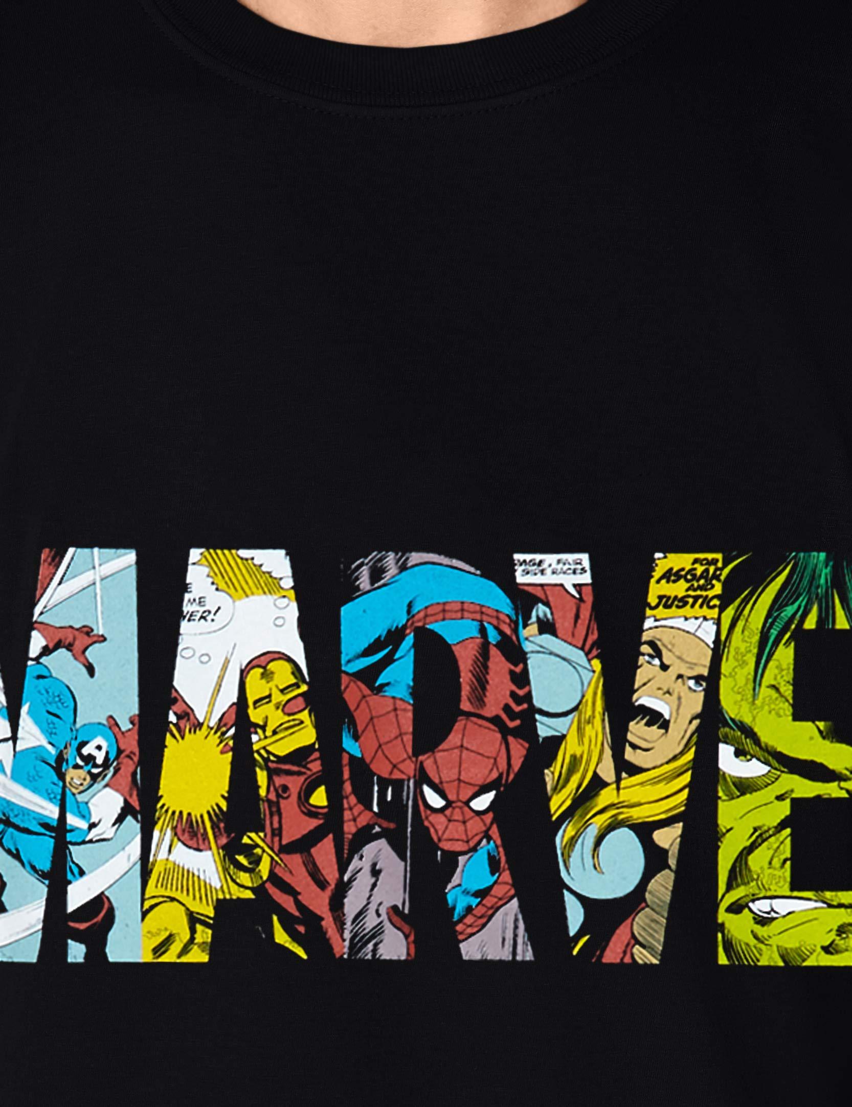 Marvel Comic Strip Logo T-Shirt Uomo 3 spesavip