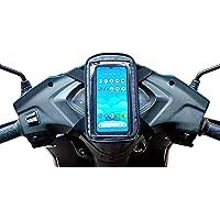 JETLIFE Universal Mobile Holder/Pouch-Bag for Scooters Scooty's Activa Jupiter EV   New 2-in-1 Design   Premium (Carbon…