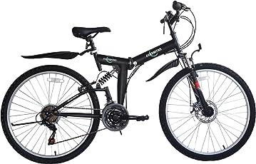Ecosmo zusammenklappbares Mountainbike-Fahrrad, 66cm / 26 Zoll, 21 Gänge Shimano-26SF02BL + Transporttasche