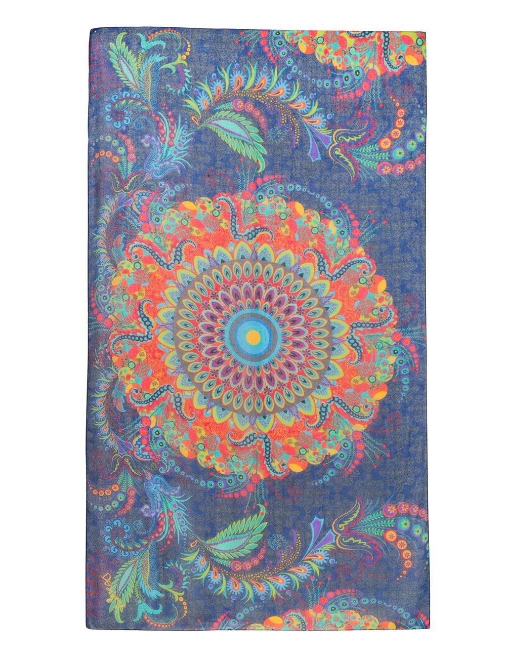 Desigual Foulard_Rectangle Atenas Bufanda, Azul (Navy 5000), Talla única (Talla del fabricante: U) para Mujer