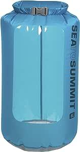 Sea to Summit - Ultra-SIL View Drysack - ultraleichter Wasserdichter Packsack mit Fenster (Blau, 8L - ø17 x 46cm, 43g)