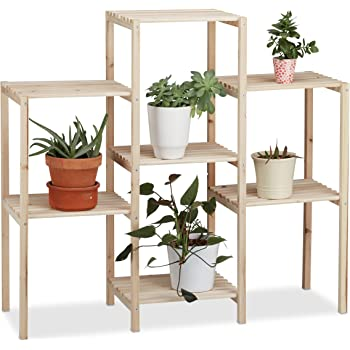 dobar 29162fsc dekoratives blumenregal aus fsc kiefernholz pflanzregal 7 fl chig 31 x 97 x 87. Black Bedroom Furniture Sets. Home Design Ideas