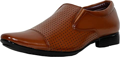 T-Rock Men's Dark Brown Faux leather Formal Shoes