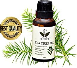 PEECURE Pure Tea Tree Essential Oil For Skin,Acne & Hair For Men & Women 30 ml
