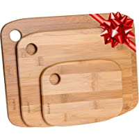 Taglieri da Cucina In Legno Di Bamboo – Set di Taglieri Da Cucina In Legno (Piccolo, Medio Grande) – Tagliere da Cucina…