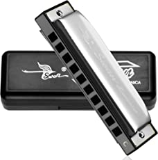 Swan SW1020H 10 Hole Harmonica Mouth Organ (Silver, Key C)