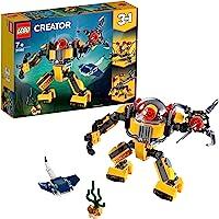LEGO Creator Underwater Robot Building Blocks for Kids (207 Pcs)31090