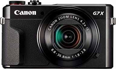 Canon PowerShot G7 X Mark II Digitalkamera (mit klappbarem Display, 20,1 MP, 4,2-fach optischer Zoom 7,5 cm (3 Zoll) LCD-Display, Touchscreen) schwarz