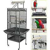YOUKE Grande Bird Cage d'élevage, Volière pour cacatoès, Perroquet, Finch avec Support de Roues(155 * 45.5 * 45.5CM)