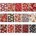 EXCEART 15 Pcs Coton Feuille de Tissu Japonais Style Couture Tissu Patchwork Tissu Tissu Bricolage Artisanat Tissu Photo Acce