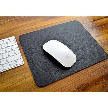 base per computer portatile 25,4 x 22,3 // 22,8 cm poggiapolso antiscivolo SANQIANWAN tappetino per mouse con superficie in pelle Soft Rest marrone e giallo