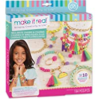 Make It Real – Neo-Brite Chains & Charms. Bracelet Making Kit for Girls and Tweens to Create Unique Bracelets, Tassel…