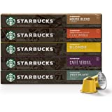 Nespresso Starbucks Capsules, Favorites Variety Pack (50 Pods, Compatible with Nespresso Original Machines)