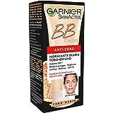 Garnier Skin Active BB Cream Anti edad Crema Hidratante con Color con Protección Solar SPF 15, Hidrata, Reduce Arrugas, Unifi