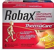Robax Heatwraps (4 Count), Thermacare Neck & Shoulder, Non - Medicated Pain Relief Neck & Shoulder Heatwrap