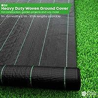 Elixirgardens® Ground Check 1m x 1m Heavy Duty Ground Control Cover Membrane Landscape Fabric