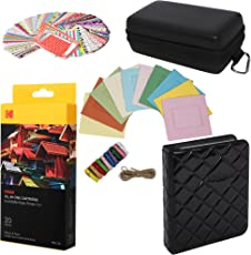 Kodak Mini Paper Cartridge Bundle + Deluxe Case + Album + Sticker Frames + Hanging Frames