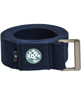 Durable Cotton Webbing with Adjustable Buckle for Secure Slip-Free Support for Stretching Pilates and General Fitness. Yoga Strong Manduka Unfold Yoga Strap