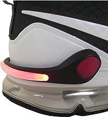 Smart-Planet® LED Schuhclip rot / Reflektor LED / Schuhlicht Leuchte in rot für Schuhe - Für Ihre Sicherheit und Ihrer Kinder im Straßenverkehr Joggen , Radfahren , auf dem Schulweg - Schuhclip mit rotem LED Licht