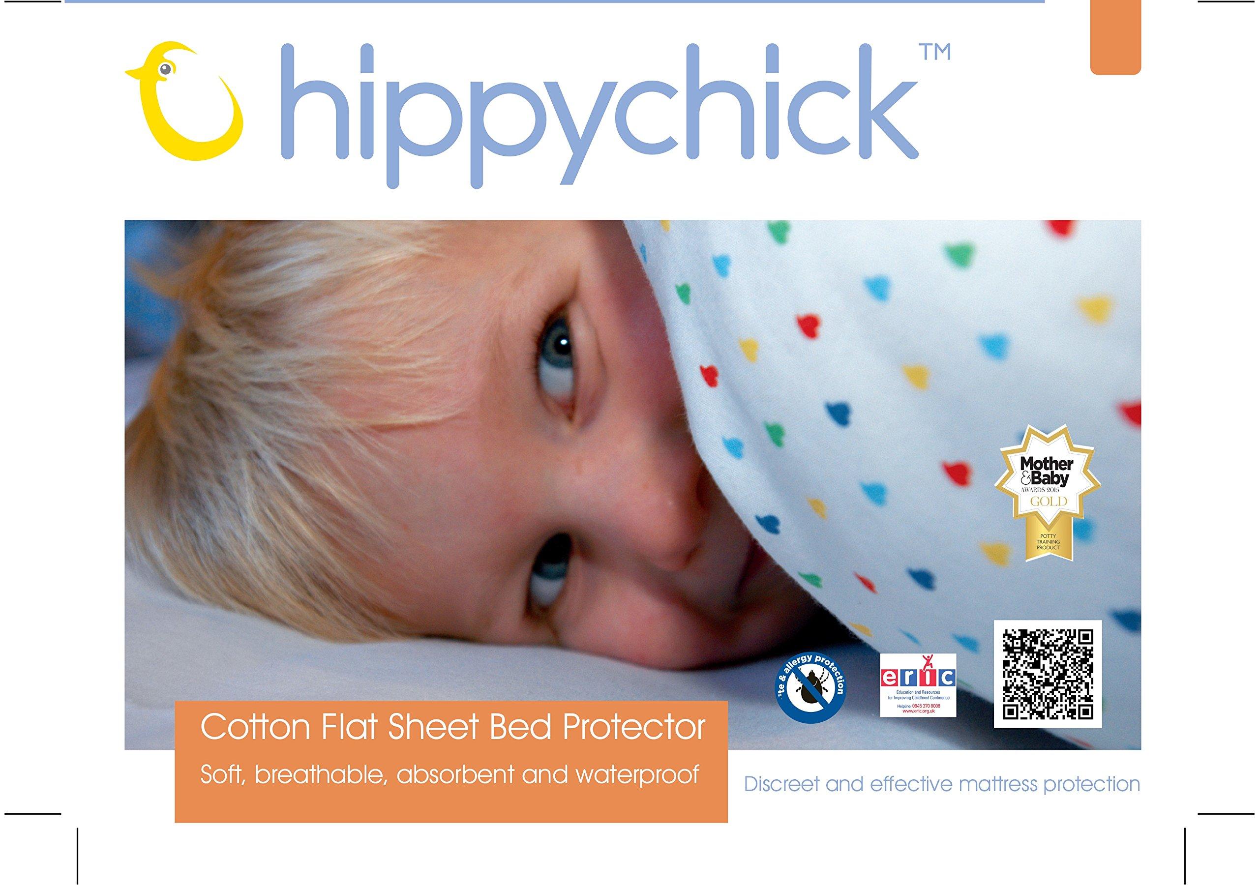 Hippychick HCBPLWH Proteggimaterasso in Cotone, Bianco, 150x200 cm