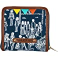 Funk For Hire Women Indian Mela Printed Canvas small square wallet
