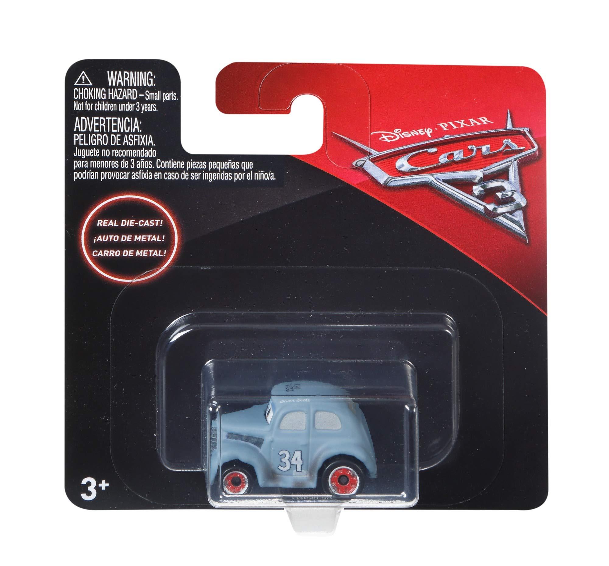 Cars 3 Macchinine da Corsa in Formato Mini dei Personaggi Preferiti,  Veicolo Singolo, i Modelli Possono Variare, FKL39
