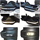 Adhesivos reflectantes plateados con inscripción «GS», para manillar y guardabarros R1200 R1250