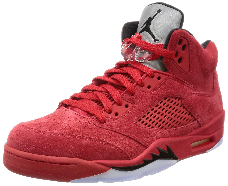 81udzcEZ0bL - Nike Air Jordan 5 Retro 'Red Suede' - 136027-602 - Size 9 -
