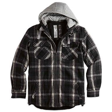 Mens Zip Up Fleece Shirt Check Lumberjack Light