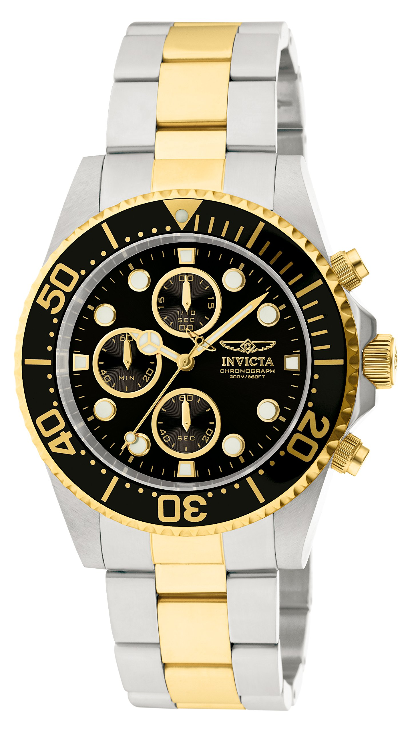 Invicta 1772 Pro Diver Reloj para Hombre acero inoxidable Cuarzo Esfera negro