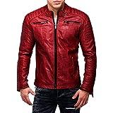 Redbridge Herren PU Cuoio Giacca di arte Giacca Bike Giacca Step By CIPO BAXX Casual Streetwear