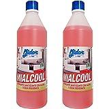 Midor Detergente Multiuso igienizzante sgrassante con Miscela di alcoli, MIALCOOL 2x1kg, 2000ml, per Pulire superfici, Piastrelle, banchi, tavoli d'ufficio, vetri, con Alcool, Senza fosforo